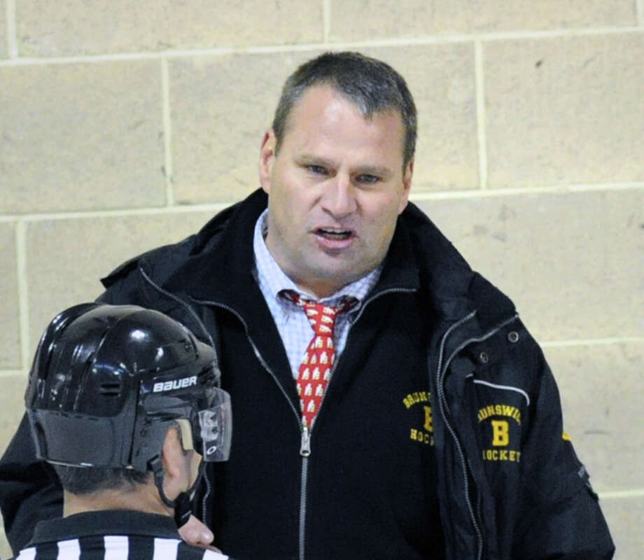 After 13 successful seasons as coach of the Brunswick School hockey team, coach Ron VanBelle announced Tuesday that he is stepping down from his position. Photo: Bob Luckey / Greenwich Time