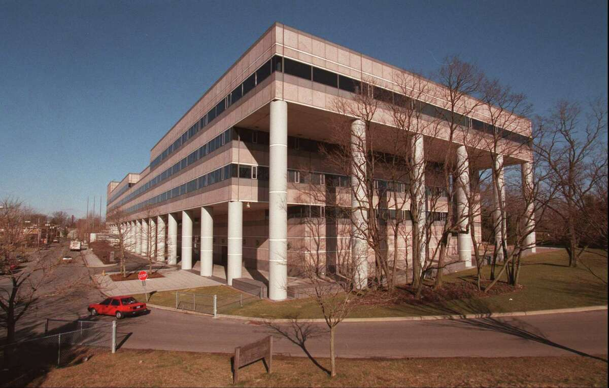 Pitney Bowes Inc., whose world headquarters is in the South End of Stamford, will will implement an environmental and energy efficiency policy for the 2.8 million square feet of office space that it leases 362 locations in the U.S. Staff Photograph by H. John Voorhees III.