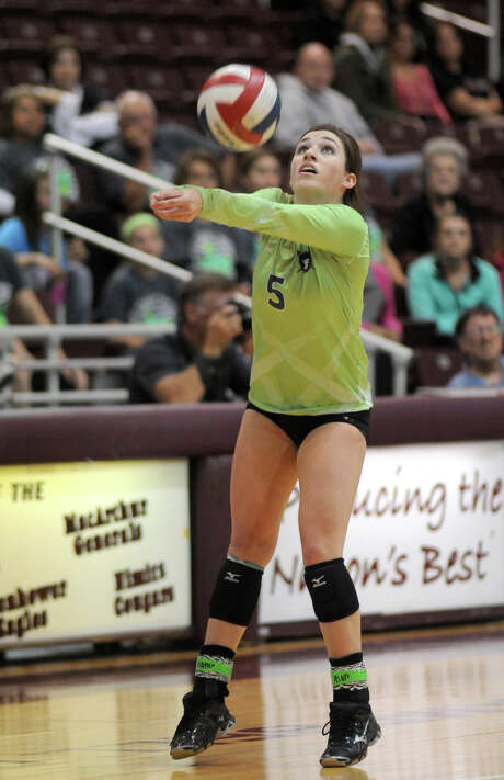 Libero Morgan St. Germain is one of the Clear Falls seniors who have been with the program from its start through this year's state tournament run. Photo: Jerry Baker, Freelance