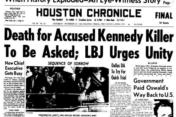 Front pages from November 23, 1963.