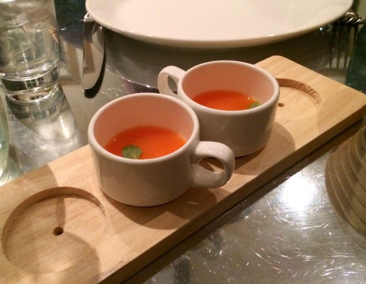 Tangerine soup