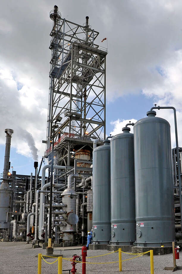 OCI Beaumont, a newly revived methanol plant at 5470 N. Twin City Hwy, in Nederland. This plant was hit hard by hurricanes and then the weak global demand for its product. Now it's back in business, providing around 75 new jobs and it signals a return to strength of the region's core petrochemical sector.  Photo taken 07/19/12 Dave Ryan/The Enterprise Photo: Dave Ryan