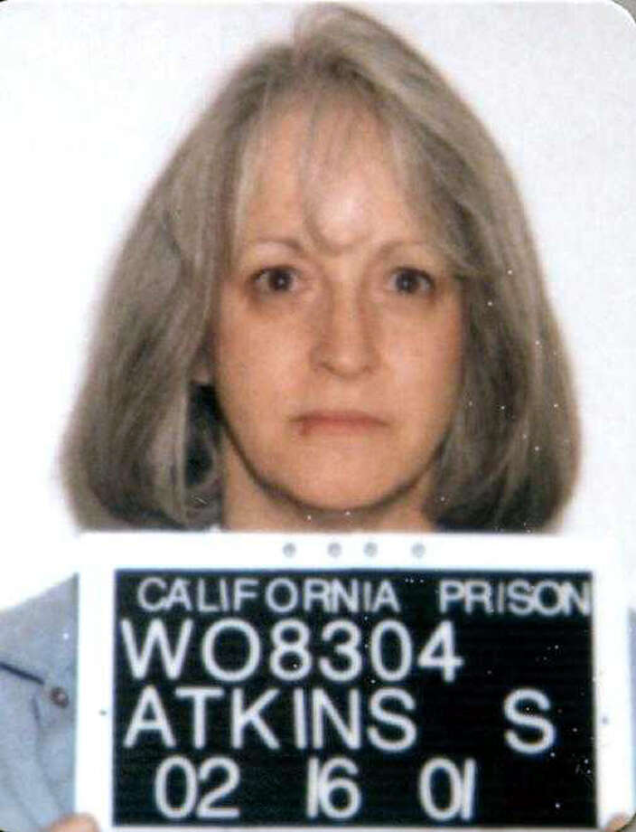 Susan Atkins is shown in this undated handout photo provided by the California Department of Corrections and Rehabilitation.  Atkins, a follower of Charles Manson who stabbed pregnant actress Sharon Tate to death nearly 40 years ago but is dying of brain cancer in a California prison was denied compassionate release Tuesday July 15, 2008. Photo: M, AP / California Department of Correct