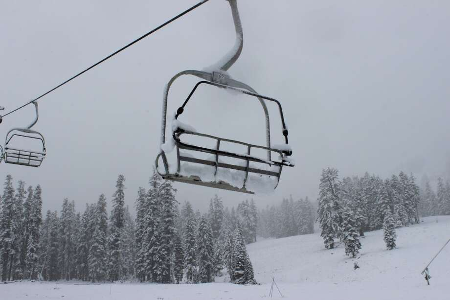Snow on Kirkwood chair Photo: Kirkwood