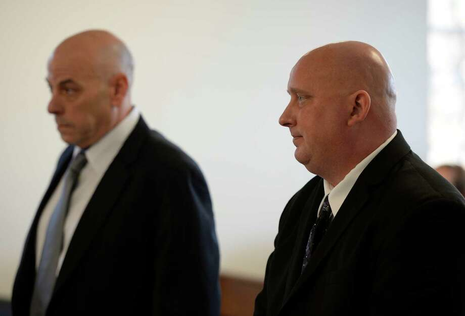 Albany Police officer Brian Lutz stands in Menands Town Court after receiving his sentence from Judge Lisa Anne Proskin Thursday morning Nov. 21, 2013 in Menands, N.Y.     (Skip Dickstein/Times Union) Photo: SKIP DICKSTEIN / 00024742A