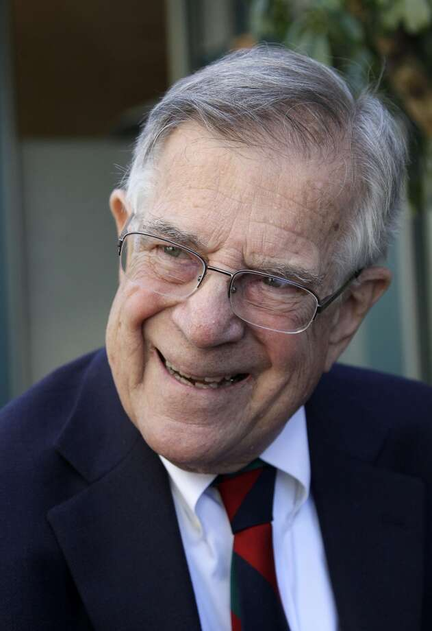 "Defeated former Rep. Pete Stark, 82 has vowed to do ""everything I can"" to oust the man who vanquished him, CD-15 Democratic East Bay Rep. Eric Swalwell, and to help his 2014 opponent, State Senator Ellen Corbett. Photo: Jeff Chiu, Associated Press"