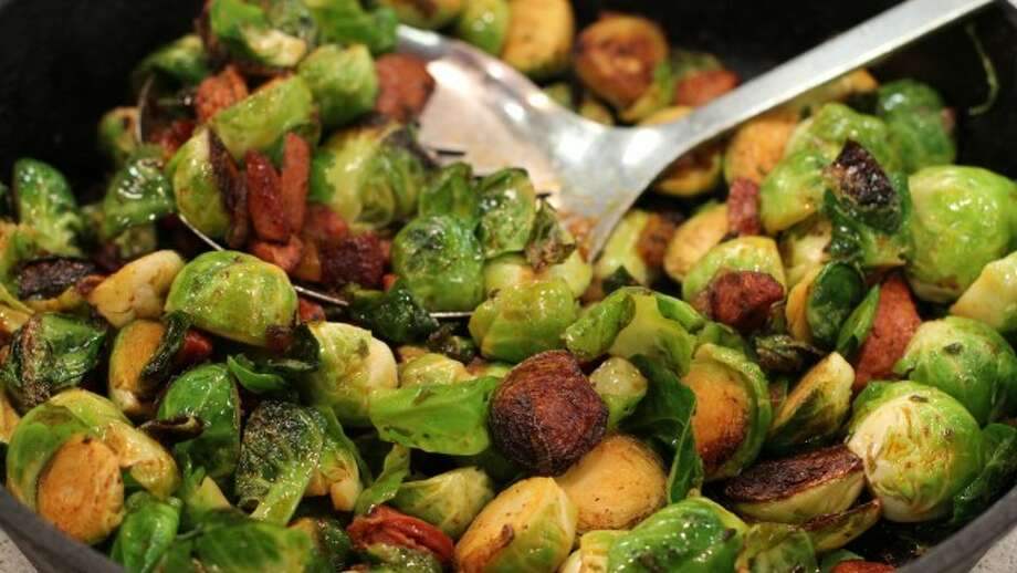 Smoky Brussels Sprouts with Chorizo