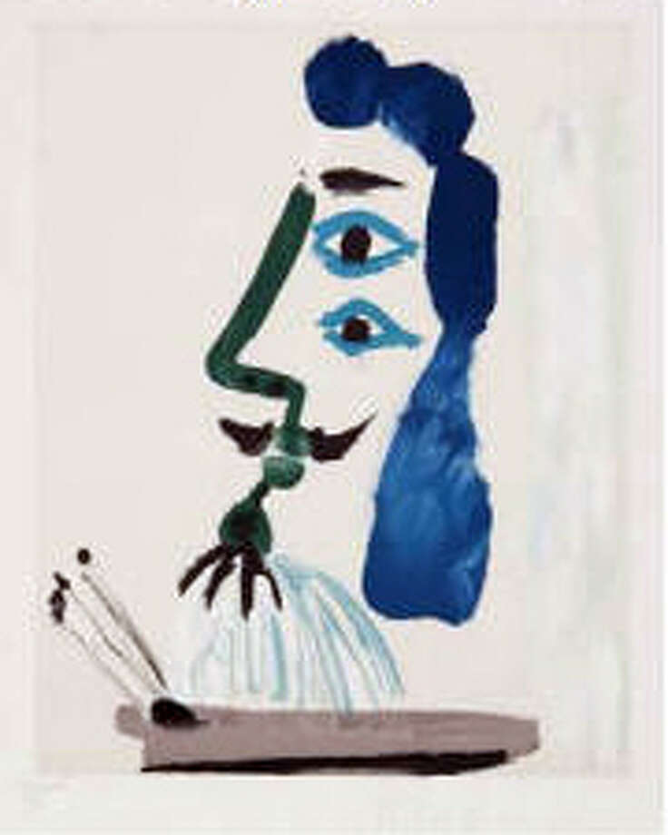 "Marina Picasso (after Pablo Picasso), Le Peintre et sa Palette (original 1967, restrike 1979-1982), 29 by 22 inches, signed in pencil lower right, ""Marina Picasso"""