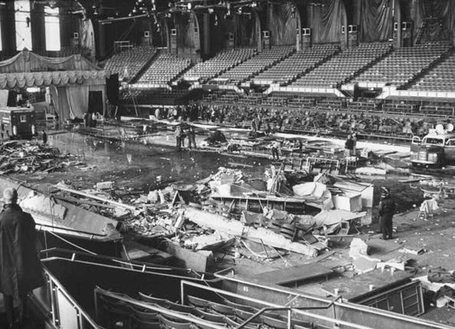 "Seventy-four people are killed by a gas explosion at the Indiana State Fair during a performance of ""Holiday on Ice."" Photo: Francis Miller, Time & Life Pictures/Getty Image / Time Life Pictures"