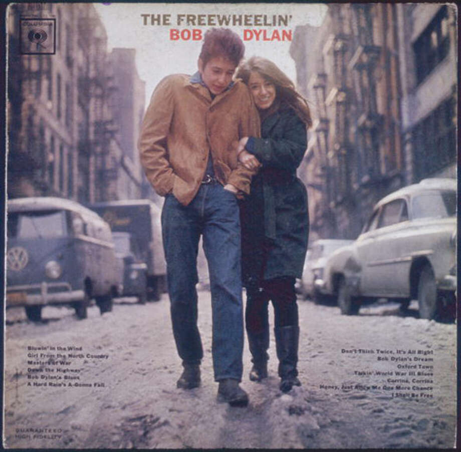 "Columbia Records releases ""The Freewheelin' Bob Dylan."" It includes the Dylan classics ""Blowin' in the Wind,"" ""Girl from the North Country,"" ""Bob Dylan's Blues,"" ""A Hard Rain's a-Gonna Fall"" and ""Don't Think Twice, It's All Right."" Photo: Blank Archives, Getty Images / 2007 Getty Images"