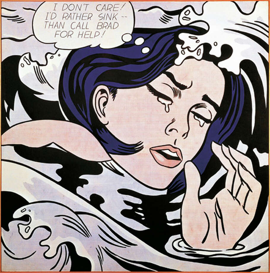 "Roy Lichtenstein's ""Drowning Girl"" becomes an iconic work ion the pop art movement. Photo: DEA PICTURE LIBRARY, Getty Images/DeAgostini / DeAgostini"