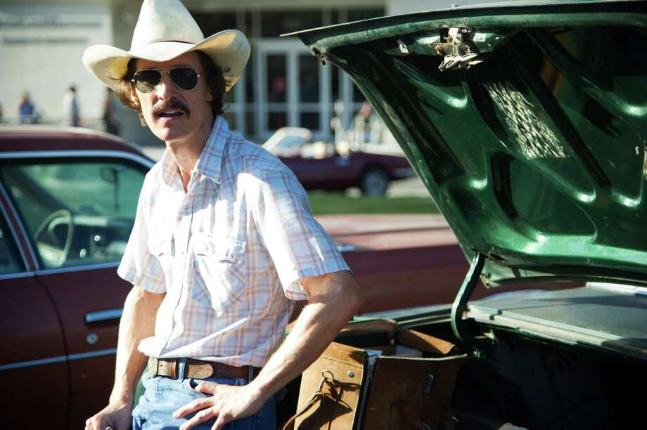 "This image released by Focus Features shows Matthew McConaughey as Ron Woodroof in a scene from the film, ""Dallas Buyers Club."" (AP Photo/Focus Features, Anne Marie Fox) ORG XMIT: CAET310 Photo: Anne Marie Fox / Focus Features"