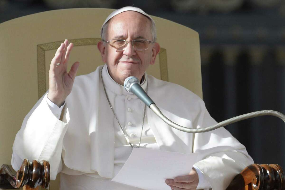 Pope Francis addresses the crowd during his general audience at St Peter's square on November 20, 2013 at the Vatican. AFP PHOTO / ANDREAS SOLAROANDREAS SOLARO/AFP/Getty Images
