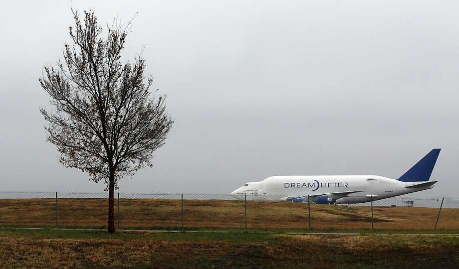 But the GPS said ...A Boeing 747 Dreamlifter sits on a runway after landing mistakenly at tiny Col. James Jabara Airport in Wichita, Kan., about eight miles north of its intended destination, McConnell Air Force Base. Photo: Chris Neal, Associated Press