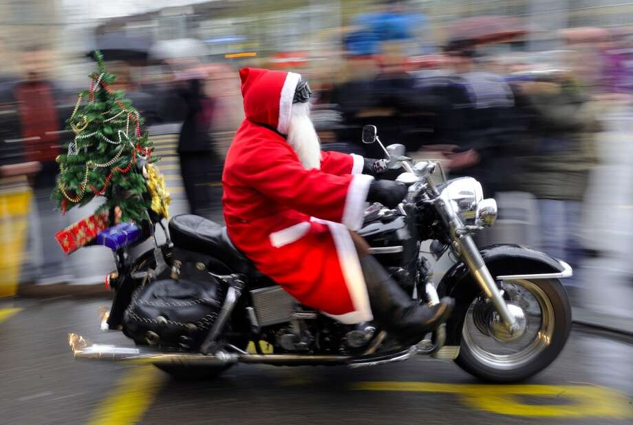 Zurich, SwitzerlandIt was a Harley parade for this Swiss Santa. Photo: FABRICE COFFRINI, AFP/Getty Images