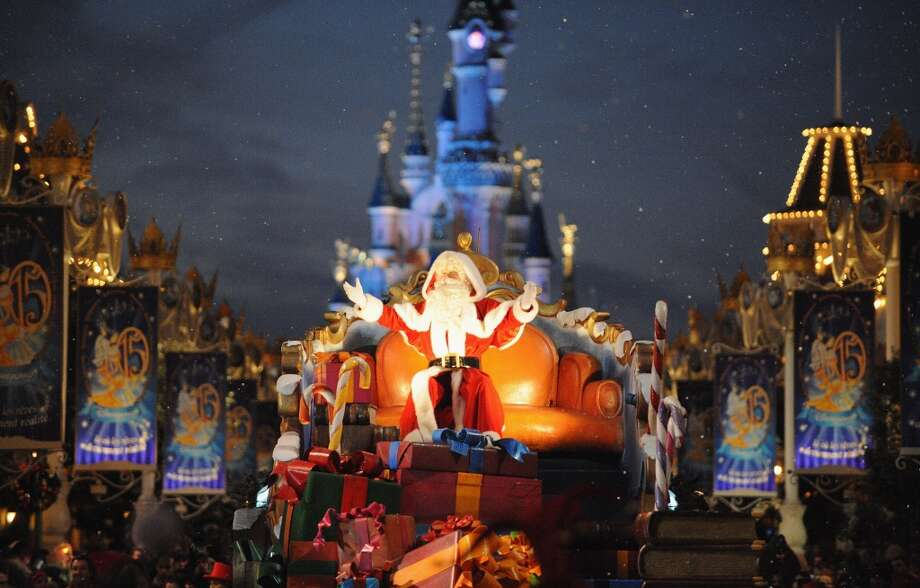 Paris, FranceThis Santa traveled down the parade route in style in a 2008 parade at Disneyland Paris. Photo: Pascal Le Segretain, Getty Images