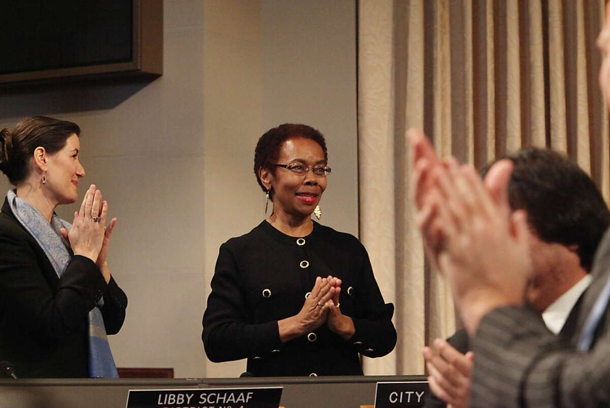 City Attorney Barbara Parker at her inauguration in January. The city of Oakland won a $15.1 million civil judgement against American Legal Services, a bogus immigration consulting company.