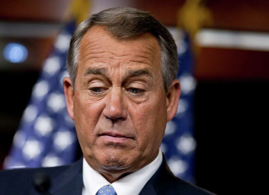 House Speaker John Boehner says the clock has run out on immigration reform this year. We are supposed to forget that he controlled the clock. Photo: J. Scott Applewhite, Associated Press / AP