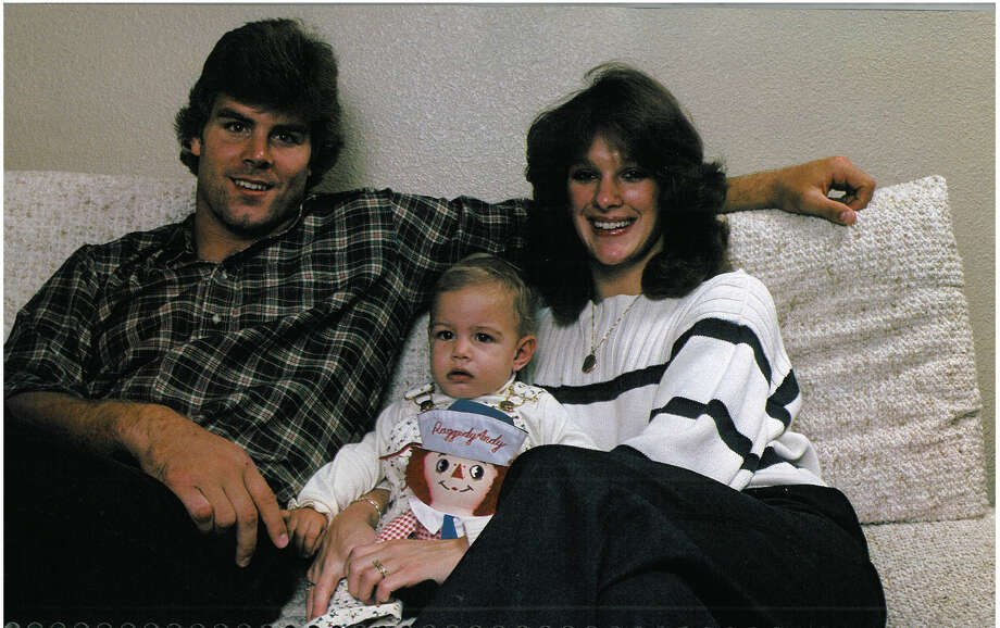 Linebacker Greg Gaines is pictured with his wife, Gina, and their son. Photo: Corky Trewin/Seattle Seahawks