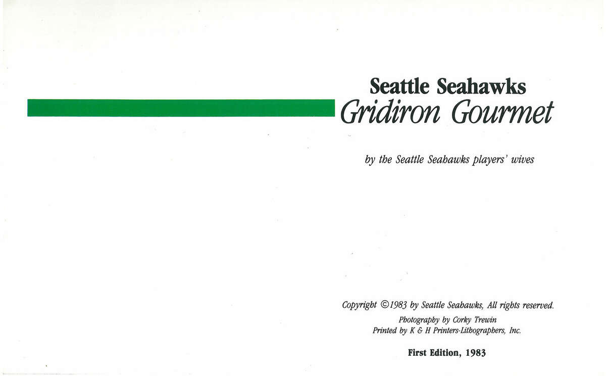 Scan from 1983 Seattle Seahawks cookbook.