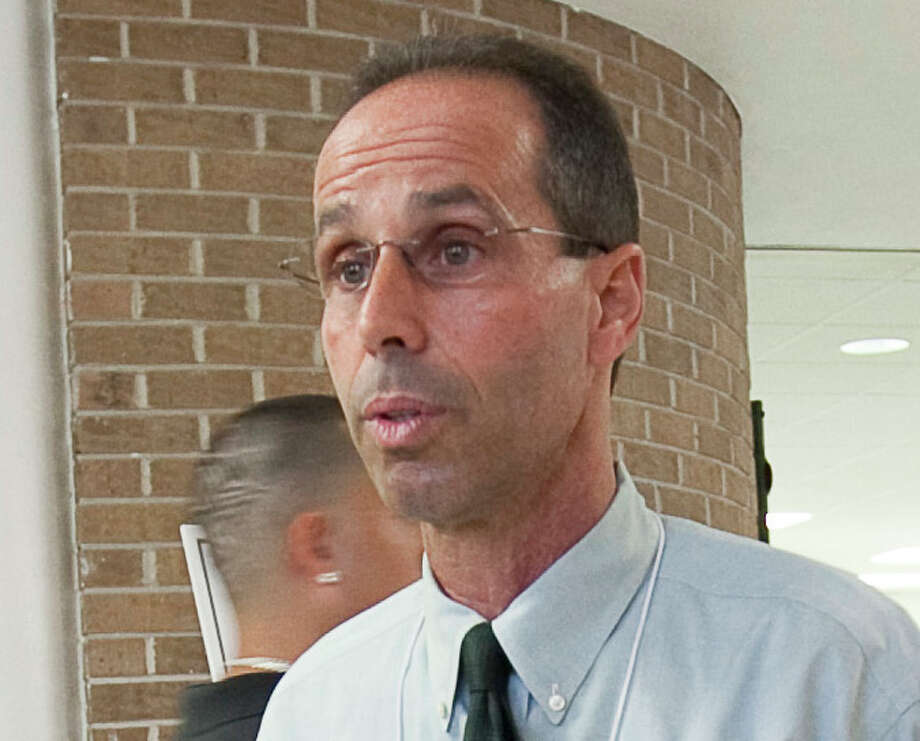 Sharpstown High School Principal Rob Gasparello, shown at the school in 2010, has been charged in the case. (Nathan Lindstrom/For the Chronicle)