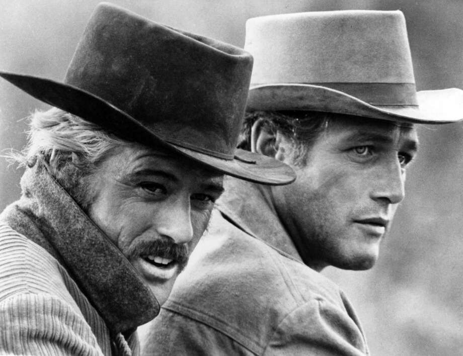 """'Butch Cassidy and the Sundance Kid' sequel:Our two heroes have survived. Butch goes on to live the rest of his life as a book seller in Northern California, and Sundance goes on to become a famous male actor and model. Or, just as the Bolivian army opens fire, riddling the two with bullets … the camera pans back to the barn and we see the head of a young girl … with mischief in her eyes. Daytime audiences follow the continued plot that runs for 20 years as a """"Days of Our Lives"""" ripoff.Photo:  Butch Cassidy (Paul Newman) and the Sundance Kid (Robert Redford) in a scene from the movie """"Butch Casssidy And The Sundance Kid"""" which was released on October 24, 1969. Photo: Michael Ochs Archives, Getty Images / Moviepix"""