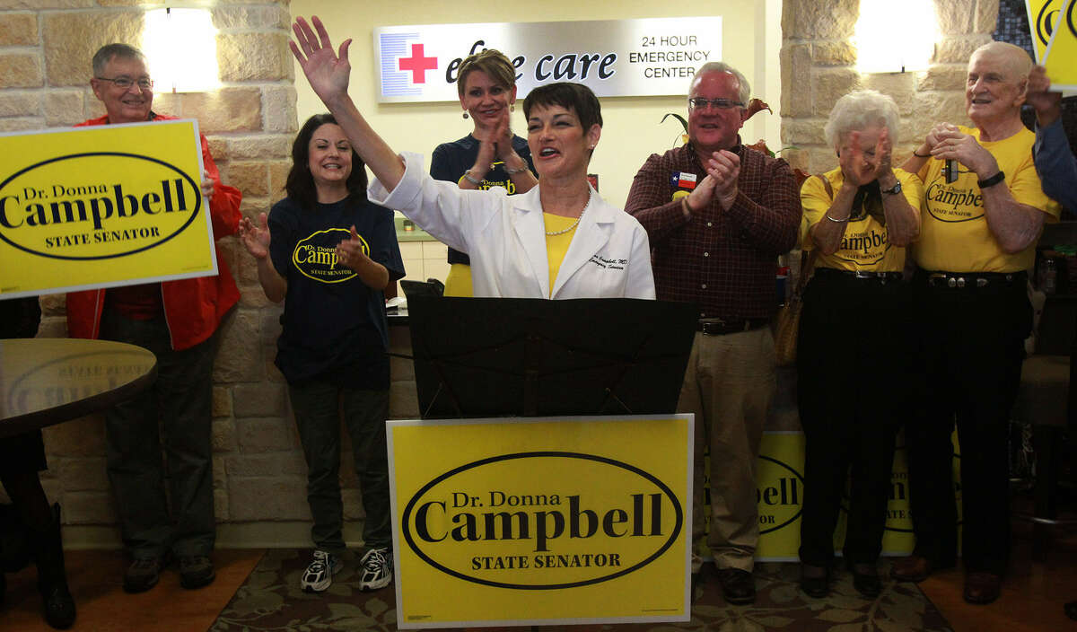 In announcing her re-election bid, state Sen. Donna Campbell said she's been able to do her job as an emergency room doctor, participate in family life and fulfill her legislative duties