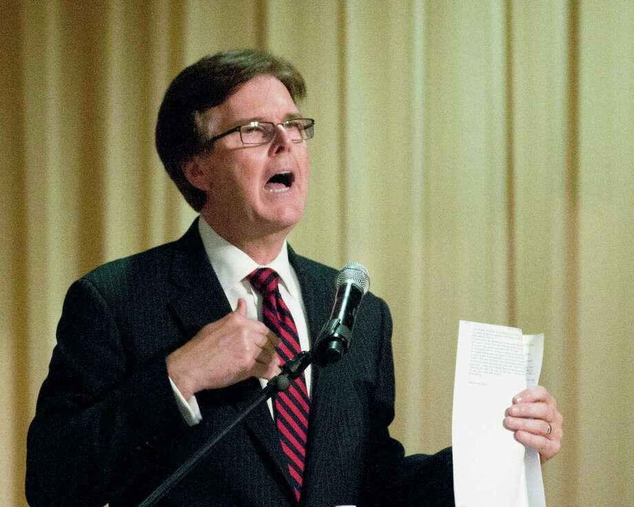 Sen. Dan Patrick has argued against requiring algebra II for most diploma plans. Photo: Herb Nygren Jr, MBR / Tyler Morning Telegraph