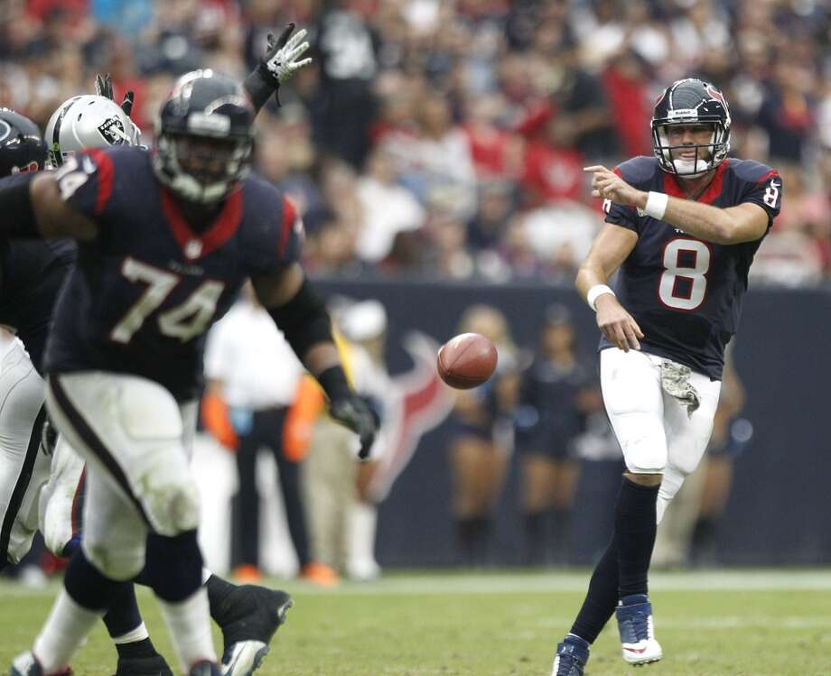 Jacksonville (1-9) plus-10 at Houston (2-8):  Texans 23-14 Photo: Brett Coomer, Houston Chronicle