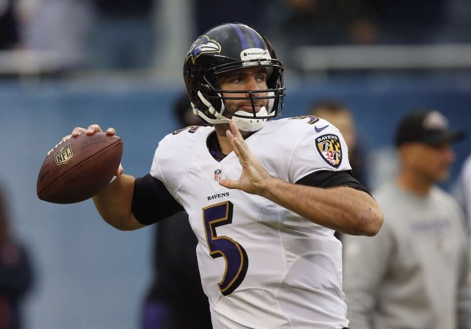 NY Jets (5-5) plus-3 ½ at Baltimore (4-6):  Ravens 24-17 Photo: Charles Rex Arbogast, Associated Press