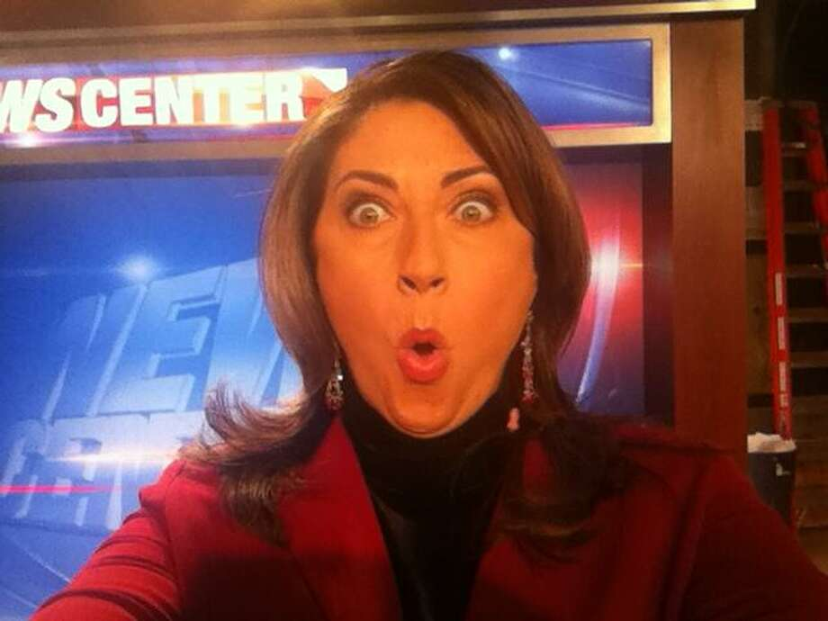 Lydia Kulbida's shocked face when she heard selfie beat out twerk for word of the year.