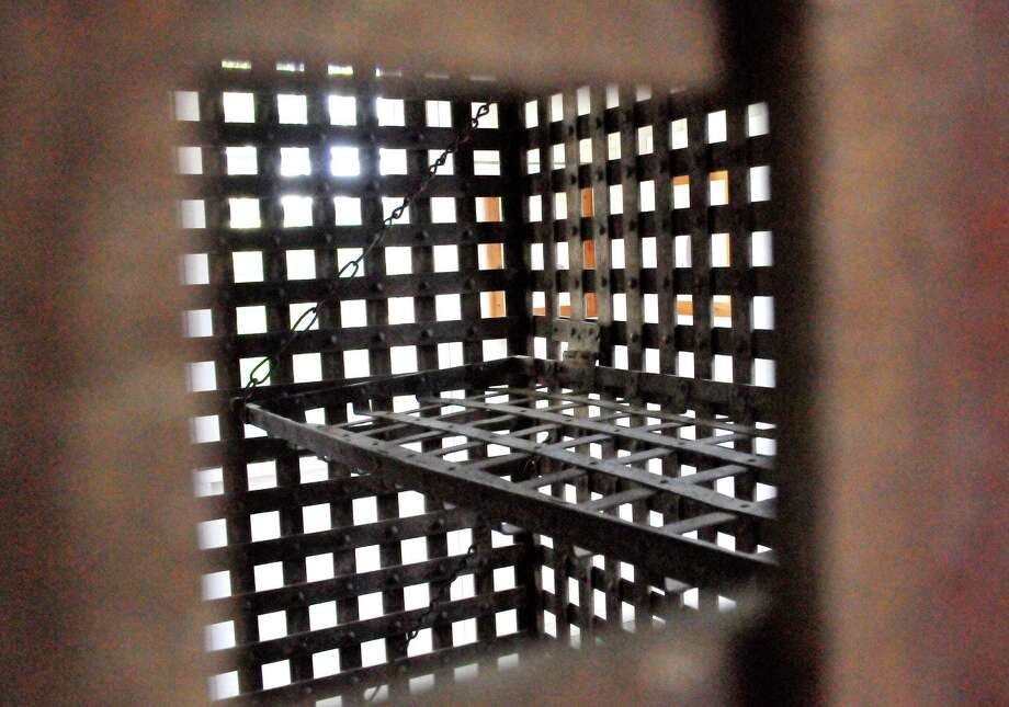 Steel jail cells in Sour Lake are believed to be the oldest surviving item from Hardin County s history. The free standing jail cells can be seen at the Bertha Terry Cornwell Museum of Sour Lake History. Photo: Cassie Smith/@smithcassie