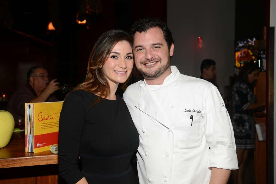 """Sylia Gallegos and David Cordua at the party at Americas River Oaks on Nov. 20 to celebrate the publication of """"Cordua: Foods of the Americas."""" (Photo: Daniel Ortiz)"""