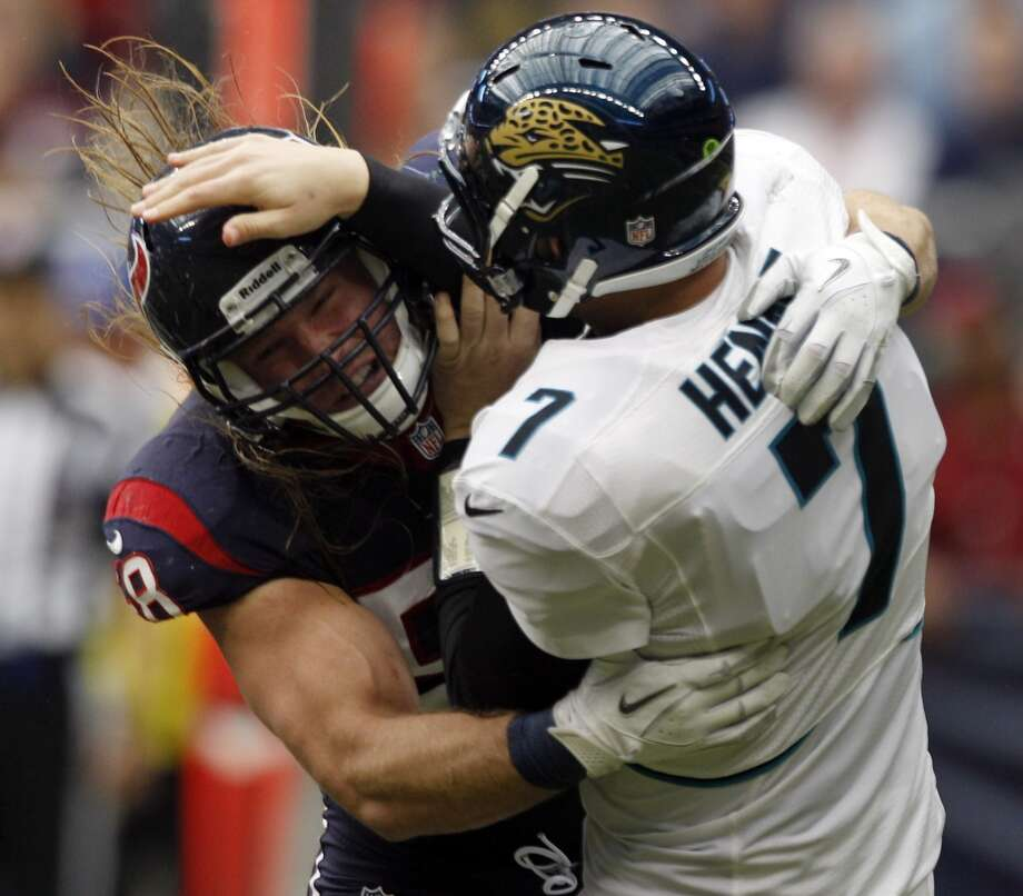 Texans-Jaguars rivalryTexans lead overall series 13-11At Reliant: 8-4 At Jacksonville: 5-7The Texans' series with the Jaguars is rare in that Jacksonville is one of the few teams the Texans have a winning record against. Take a look back at how the matchup between the two AFC South foes has unfolded over the years. Photo: Brett Coomer, Houston Chronicle