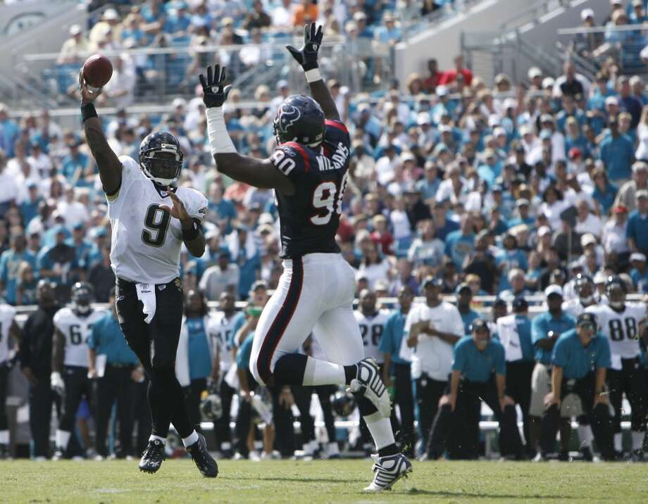 Jaguars 37, Texans 17 Oct. 14, 2007  Maurice Jones-Drew was a handful for the Texans as he went for 125 yards and two TDs on 12 carries. David Garrard tacked on a pair of throwing touchdowns as well. Photo: James Nielsen, Houston Chronicle