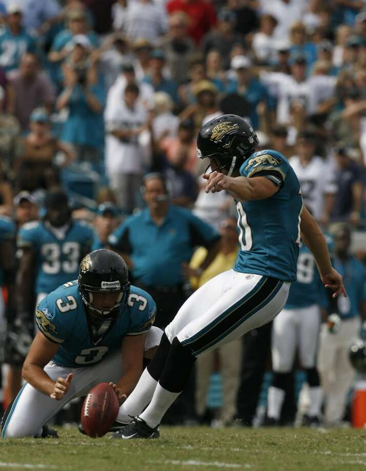Jaguars 30, Texans 27 (OT) Sept. 28, 2008Kris Brown's 47-yard field goal tied the game with 1 second left in regulation, but Josh Scobee's 37-yarder in OT sealed the win for the Jaguars. Matt Scaub threw for 307 yards and three scores. Photo: Karen Warren, Houston Chronicle
