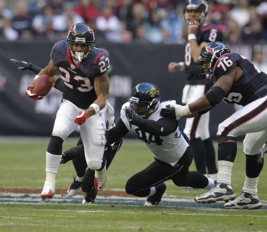 Texans 34, Jaguars 17 Jan. 2, 2011  Houston shut out Jacksonville in the second half en route to the win. Arian Foster went for 180 yards and two scores on the ground. Photo: Karen Warren, Houston Chronicle