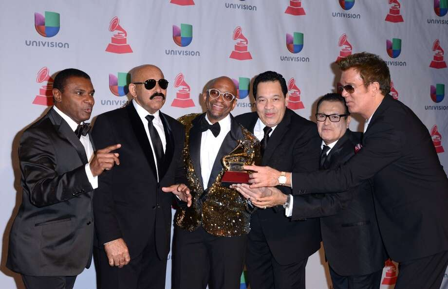 Singers Jose Alberto, Oscar D'Leon, Sergio George, Tito Nieves, Ismael Miranda, and Willy Chirino Photo: C Flanigan, Getty Images