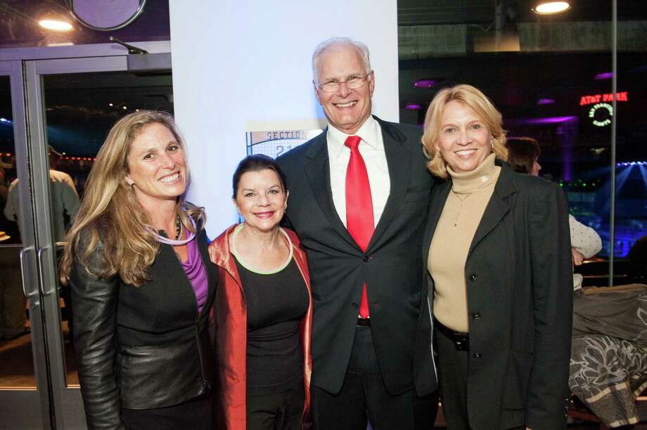 Suzanne DiBianca, Kathy Balestreri, Mark Laret and Jan Laret at the UCSF Benioff Children's Hospital Concert For Kids fundraiser on November 19, 2013. Photo: Drew Altizer Photography/SFWIRE, Drew Altizer Photography / ©2013 By Drew Altizer all rights reserved