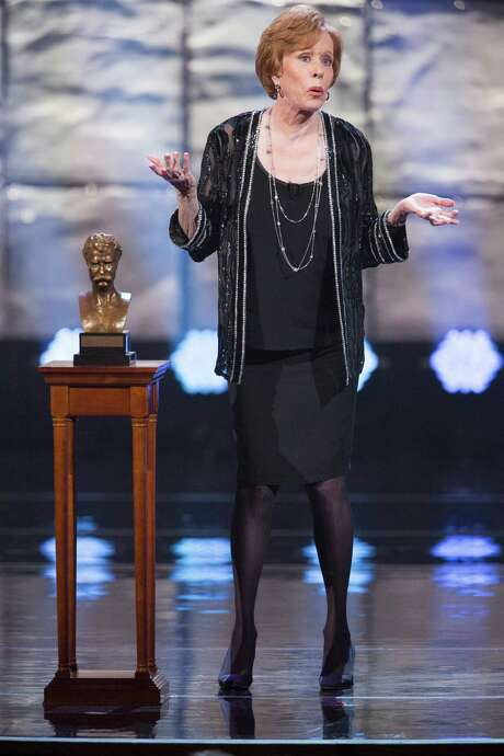 Carol Burnett accepts the Mark Twain Prize for humor at a Kennedy Center tribute. Photo: Scott Suchman/WETA, Handout / ONLINE_YES