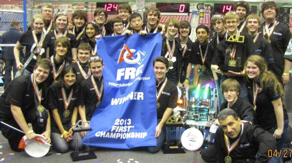 The Texas Torque Robotics Team after winning the top prize at the For Inspiration and Recognition of Science and Technology Robotics World Championship.The Texas Torque Robotics Team after winning the top prize at the For Inspiration and Recognition of Science and Technology Robotics World Championship.
