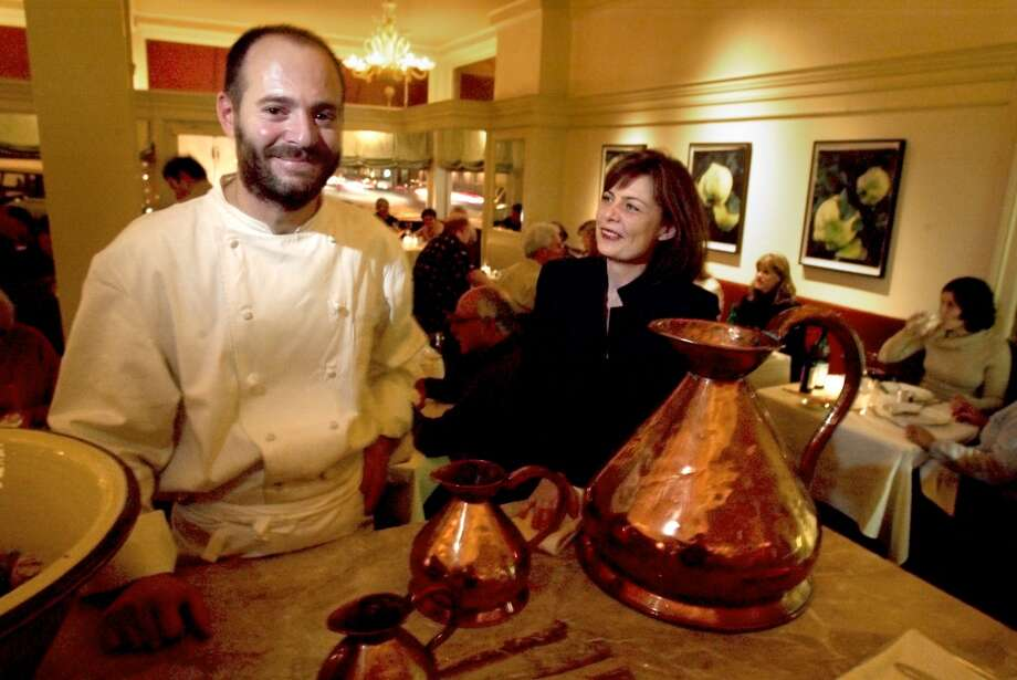 Michael and Lindsay Tusk, upon opening Quince in Pacific Heights. 2004. Photo: Carlos Avila Gonzalez, SFC