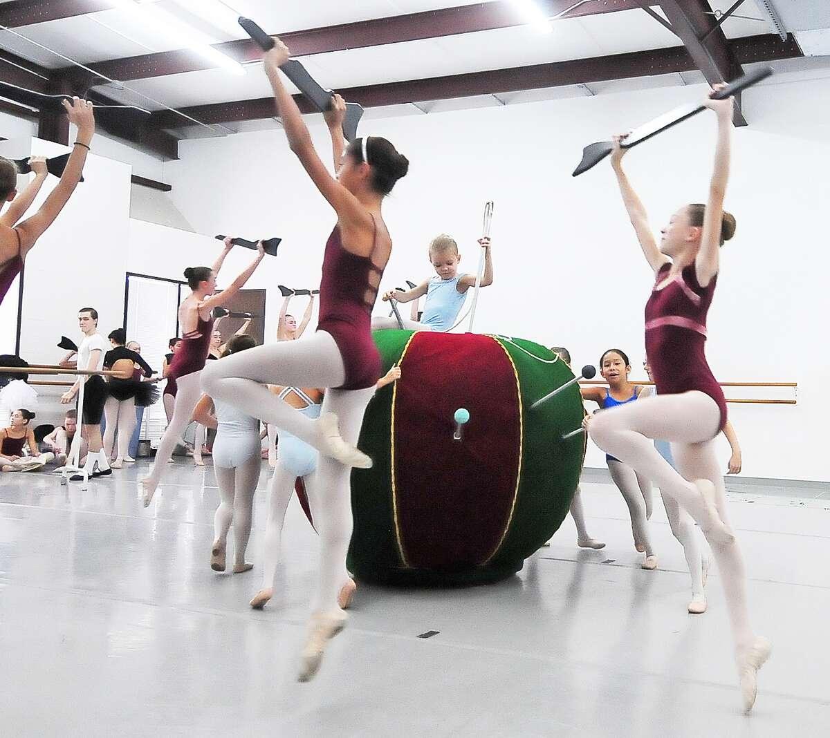 Dancers practice for The Nutcracker at American Ballet Theatre dance studio Saturday 11/16/13.