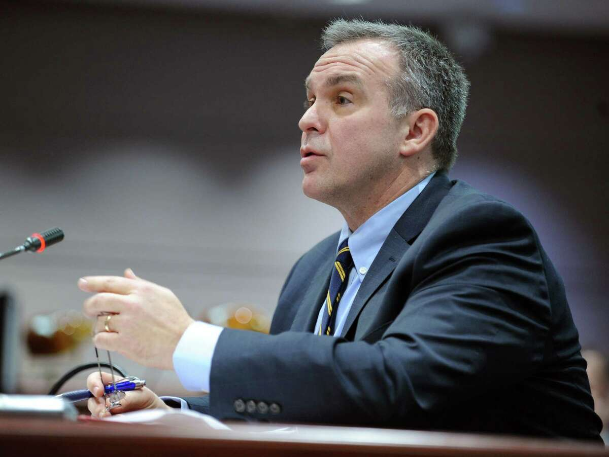 Danbury State's Attorney Stephen J. Sedensky III speaks at the first meeting of the Sandy Hook Advisory Commission Thursday, Jan. 24, 2013 at the Legislative Office Building in Hartford, Conn.