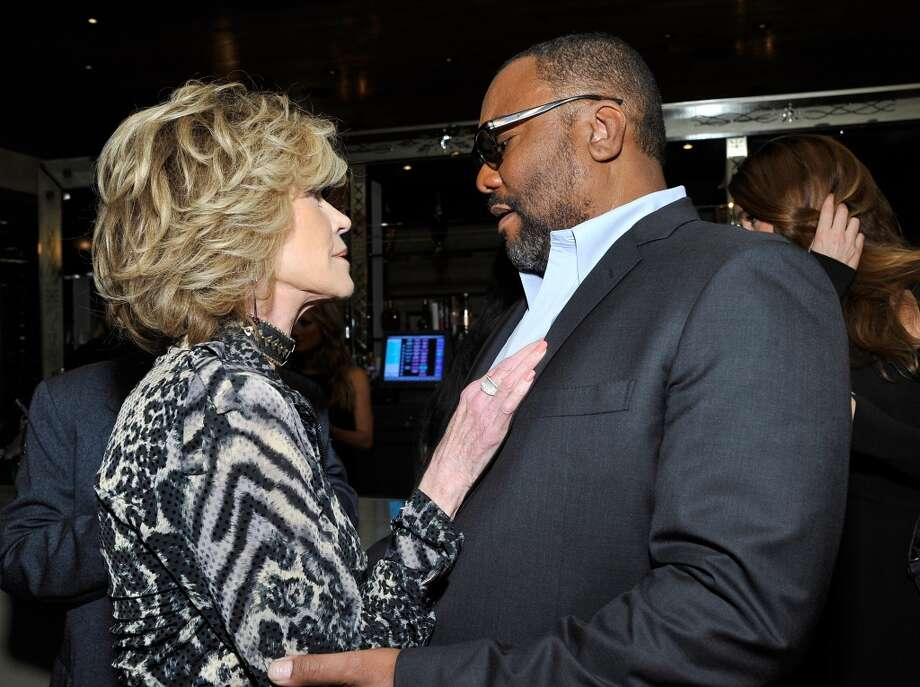 (L-R) Jane Fonda and Lee Daniels attend the Weinstein Company's holiday party at RivaBella on November 21, 2013 in West Hollywood, California. Photo: John Sciulli, Getty Images For The Weinstein Company