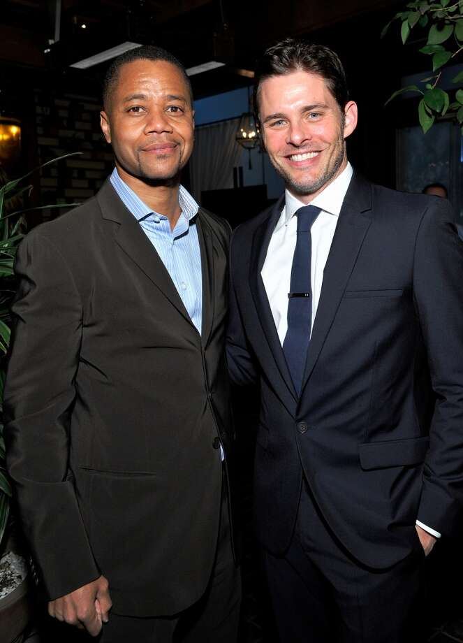 (L-R) Cuba Gooding Jr. and James Marsden attends the Weinstein Company's holiday party at RivaBella on November 21, 2013 in West Hollywood, California. Photo: John Sciulli, Getty Images For The Weinstein Company