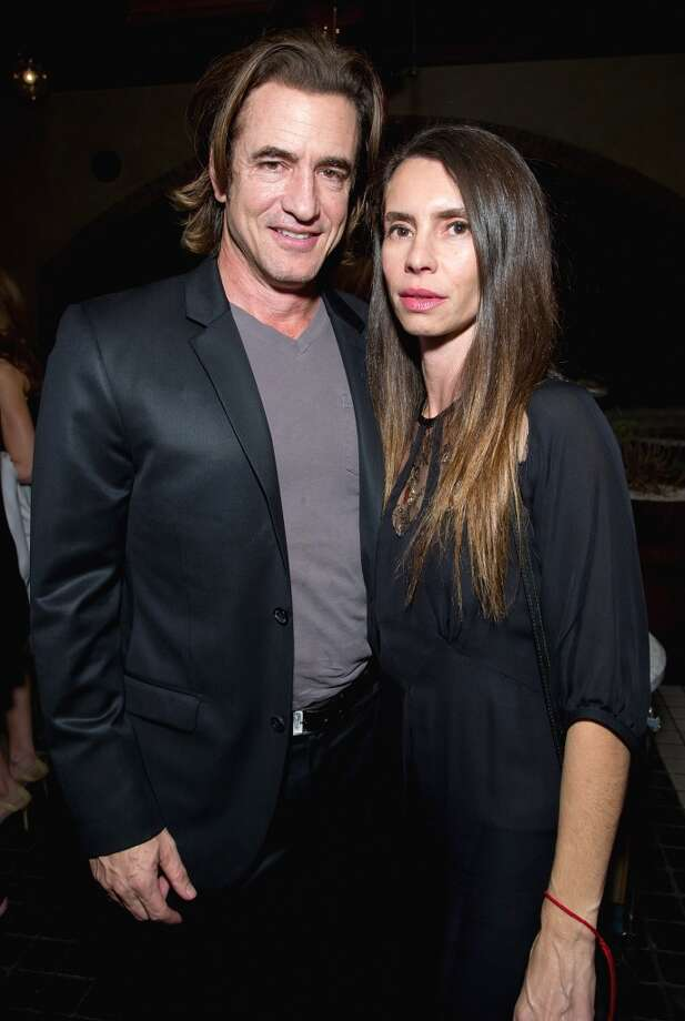 (L-R) Dermot Mulroney and Tharita Catulle attend the Weinstein Company's holiday party at RivaBella on November 21, 2013 in West Hollywood, California. Photo: John Sciulli, Getty Images For The Weinstein Company