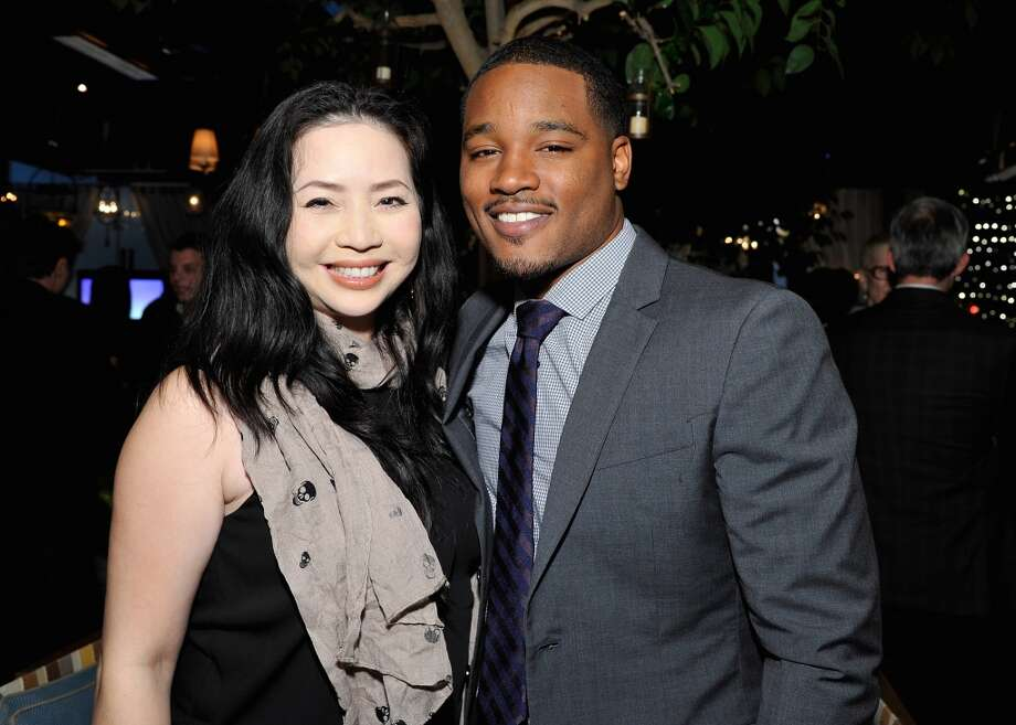 (L-R) Nina Yang Bongiovi and Ryan Coogler attend the Weinstein Company's holiday party at RivaBella on November 21, 2013 in West Hollywood, California. Photo: John Sciulli, Getty Images For The Weinstein Company