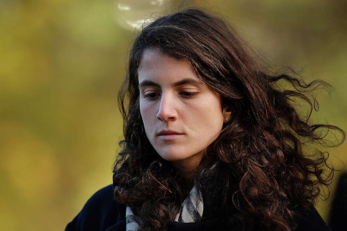Tatiana Schlossberg, granddaughter of former US President John F Kennedy attends a memorial service in Runnymede, Surrey on November 22, 2013, to mark the 50th anniversary of his assassination.