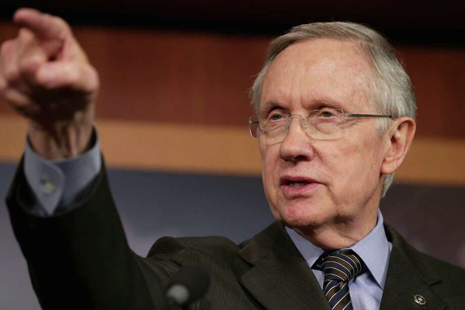 A teachable moment: Senate Majority Leader Harry Reid and the president grew tired of pointless filibusters. Reid changed the rules; Republicans will pay for juvenile behavior. Photo: Chip Somodevilla / Getty Images